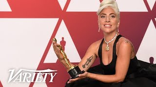"Lady Gaga - ""Shallow"" Best Song 'A Star is Born' - 2019 Oscars - Full Backstage Interview Video"