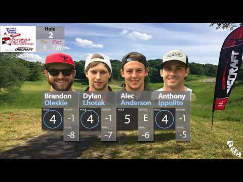 2017 PDGA US Amateur Championships   Round 2 Part 1 (Oleskie, Lhotak,Anderson, Ippolito)