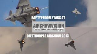 RAF TYPHOON DEMO 2013 - CLEETHORPES (airshowvision)