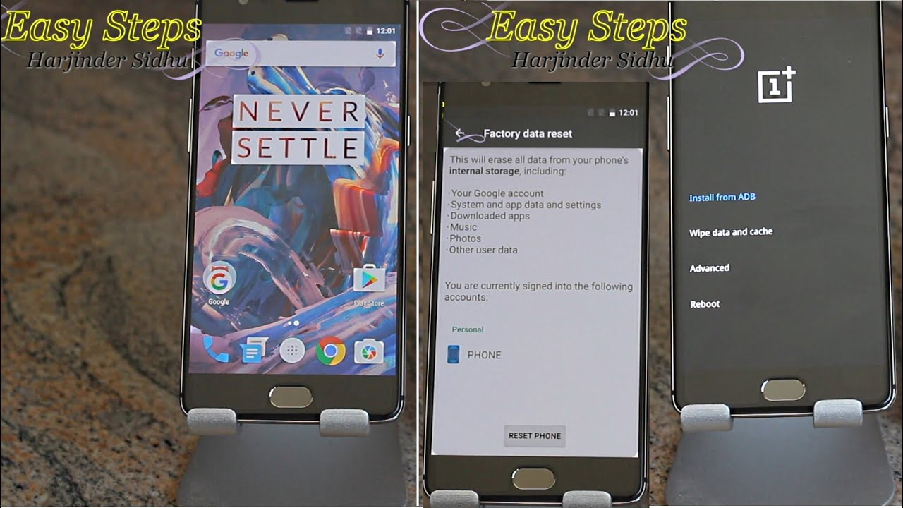 Oneplus 3 Soft And Hard Reset Recovery Mode Original Setting