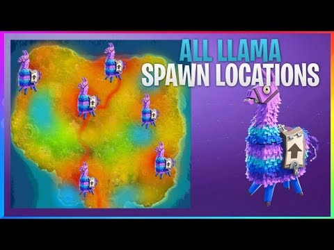 how to find a llama every game using this secret map fortnite battle royale - fortnite lama spawn