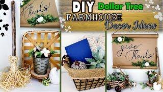 DOLLAR TREE DIY | Farmhouse Decor Ideas  | Neutral Fall Decor 2019