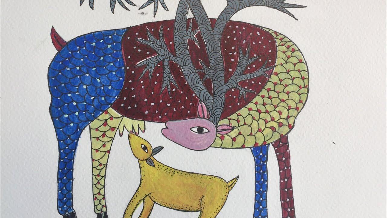 How To Draw Indian Folk Art