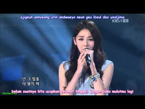 Davichi - Don't Say Goodbye [LIVE] (Indo Sub)