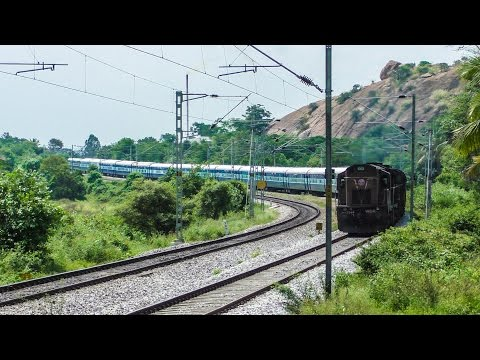 Beautiful S-Curve: Trains at Speed on the Mysore Line