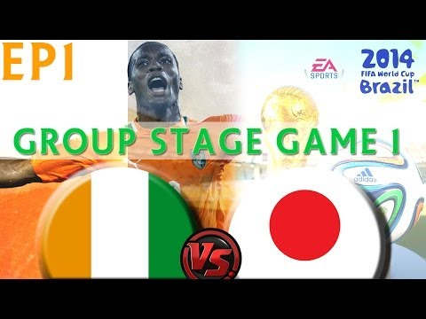 [TTB] 2014 FIFA World Cup Brazil - Ivory Coast Vs Japan - Group Stage Game 1 - Ep1