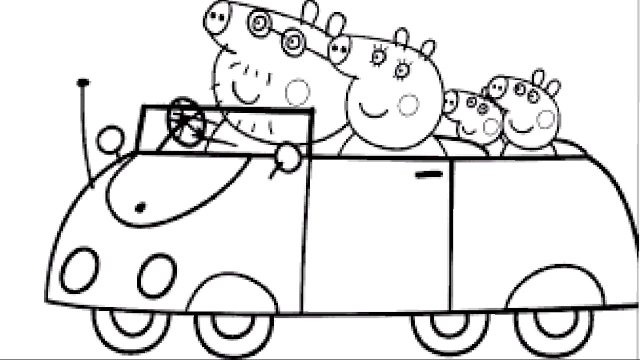 peppa pig coloring book l coloring pages for children learning rainbow colors videos - Peppa Pig Coloring Pages Kids