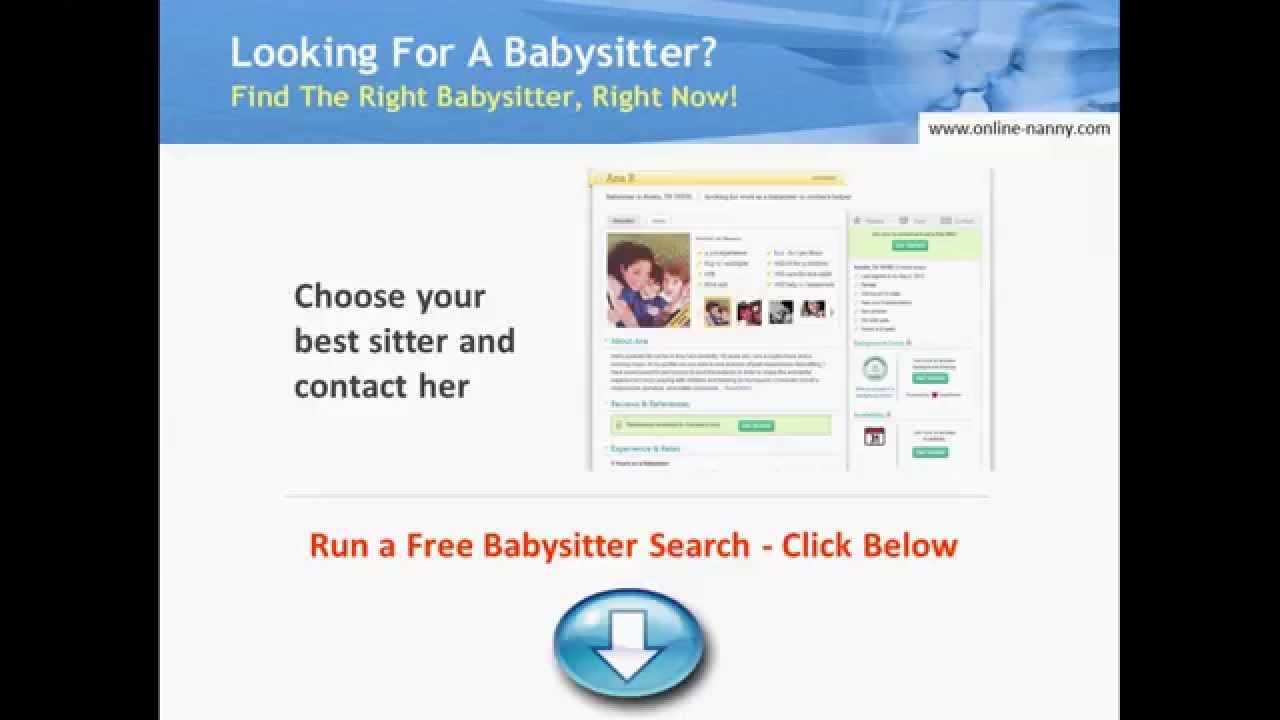 Free Babysitter Finder - The Top Babysitting Website - YouTube