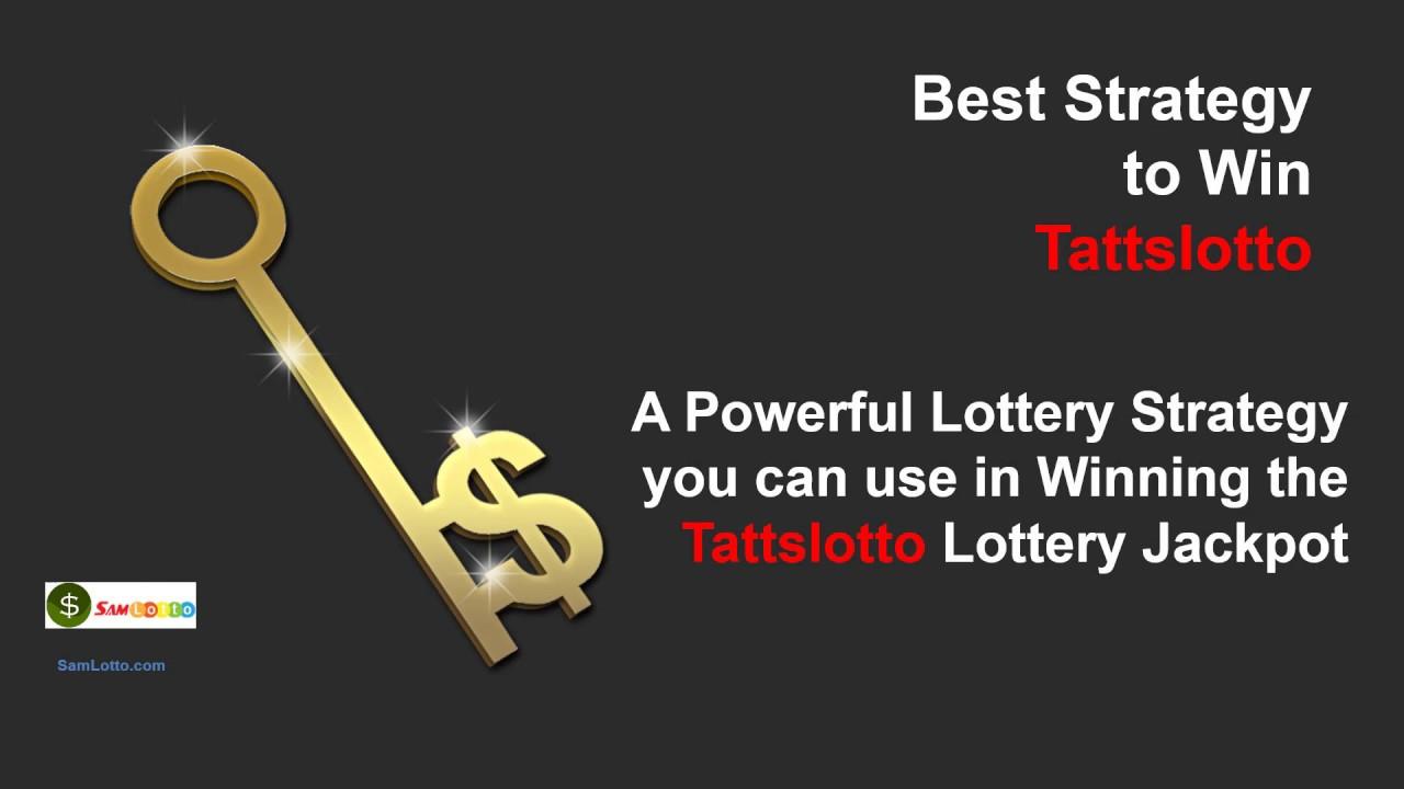 How To Win Tattslotto Free Tips