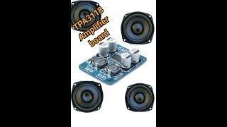 Testing TPA3118 amplifier board mono 1x60watt
