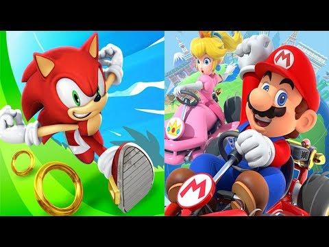 Sonic Dash KNUCKLES VS Mario Kart Tour