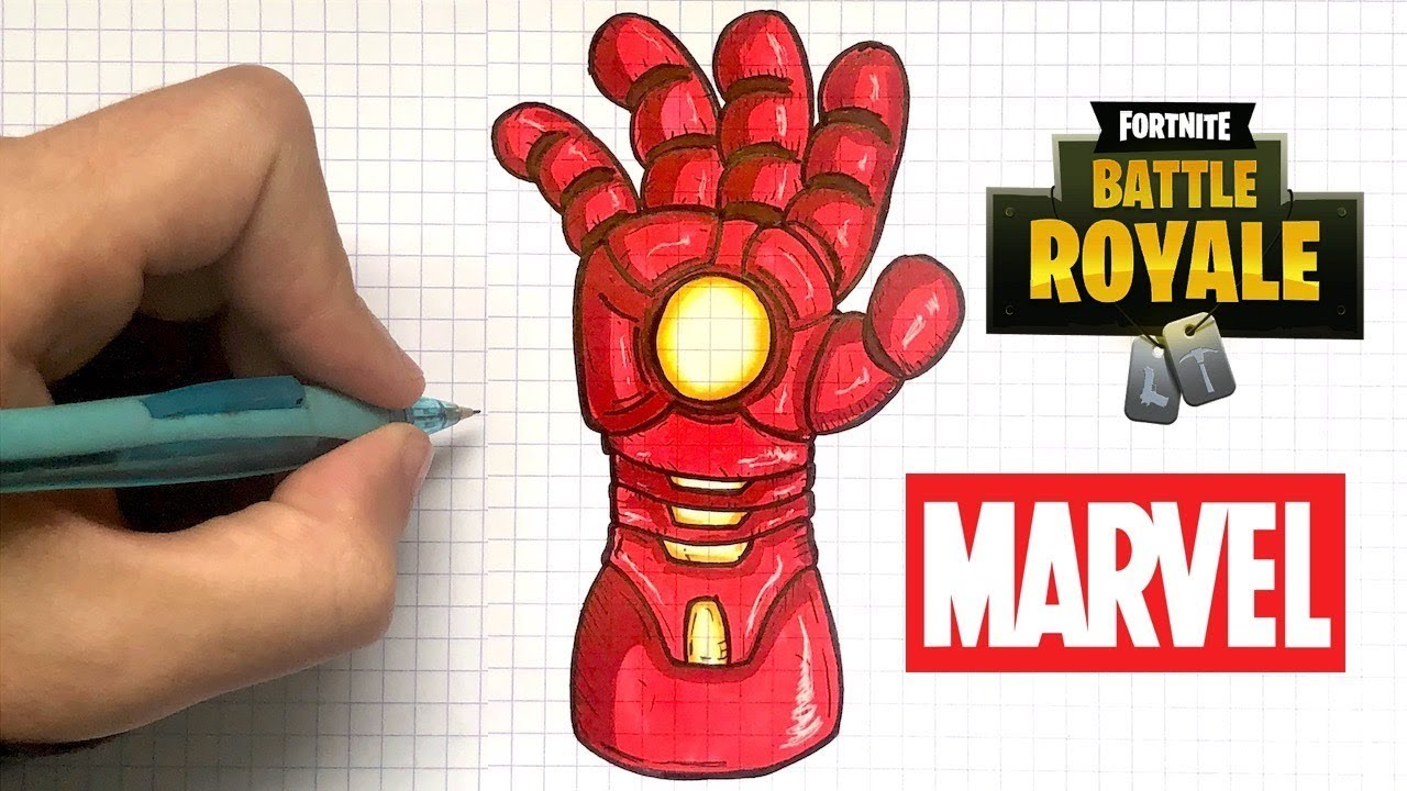 Tuto Dessin Simple Gant Iron Man Fortnite Youtube