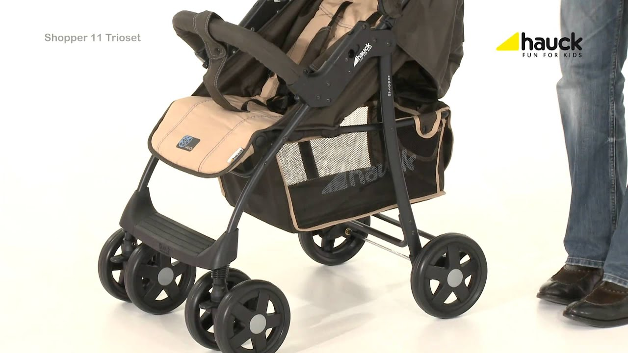 hauck shopper 11 travel system trio set kiddies youtube. Black Bedroom Furniture Sets. Home Design Ideas