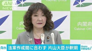 """""""特区改正案""""間に合わず 片山さつき大臣が釈明(19/03/19)"""
