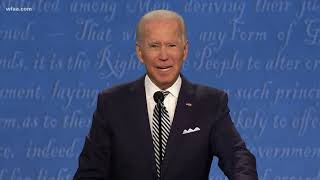 Joe biden says the united states has become weaker, more violent and divided since president donald trump was elected. during first 2020 presidentia...