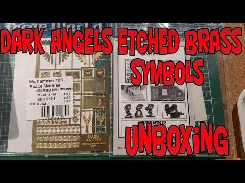 Dark Angels Etched Brass  Symbols
