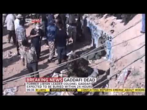 Gaddafi last moments and death New Footage