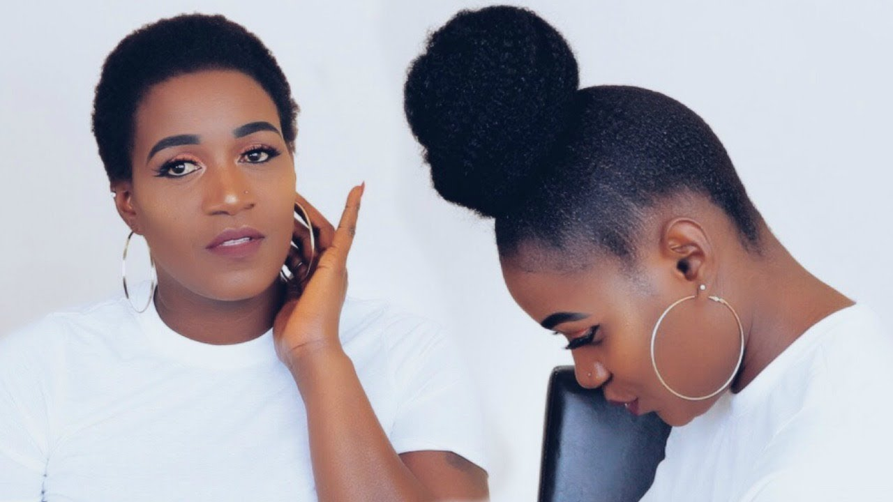 Affordable Back To School High Bun With Marley Hair Youtube