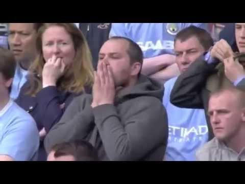 Aguero scores and manchester city wins the premier league