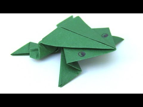 How to make Paper origami jumping Frog