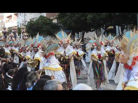 Desfile De Carnaval De Badajoz.Actuación De Achiweiba.23-2-2020