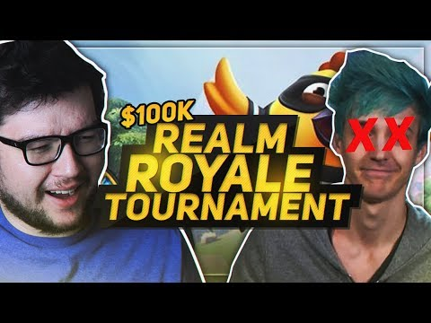 DYRUS | $100,000 REALM ROYALE TOURNAMENT - I KILLED NINJA!?!