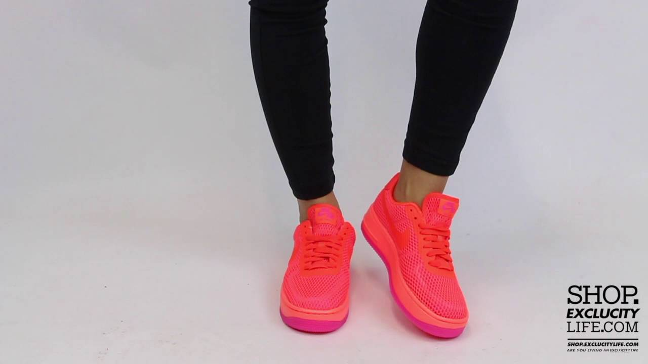 0e3246bef2 Women's Air Force 1 Low Upstep BR Total Crimson Total Crimson On feet Video  at Exclucity