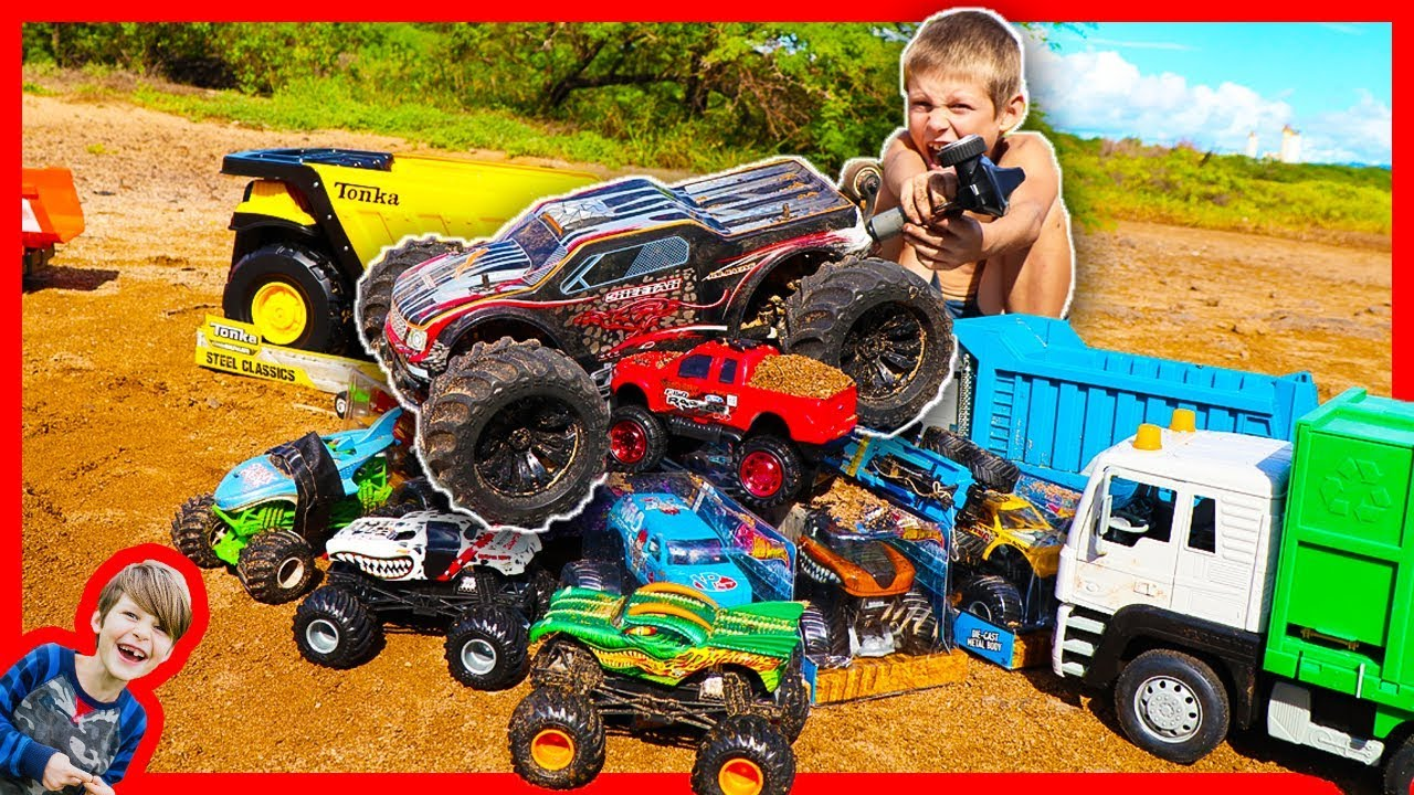 Rc Monster Truck Crushing Toy Trucks Most Powerful Ever Youtube
