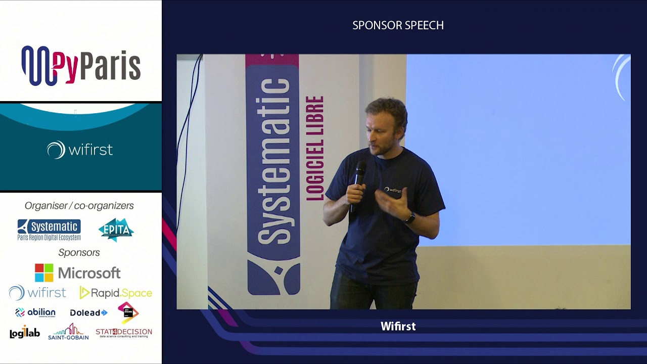 Image from PyParis 2018 - Sponsor speech (Wifirst)