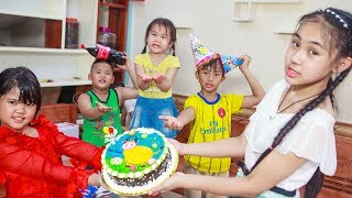 Kids Go To School | Day Birthday Of Chuns Children Make a Birthday Cake Dairy Cows Chocolate