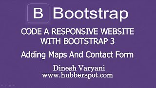 Code a Responsive Website with Bootstrap 3 - #11 Adding Google Maps and Contact Form Free HD Video