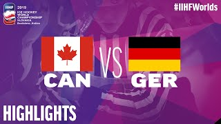 Canada vs. Germany - Game Highlights - #IIHFWorlds 2019