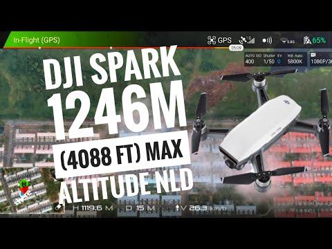 DJI Spark 1246m (4088 ft) Max Altitude NLD