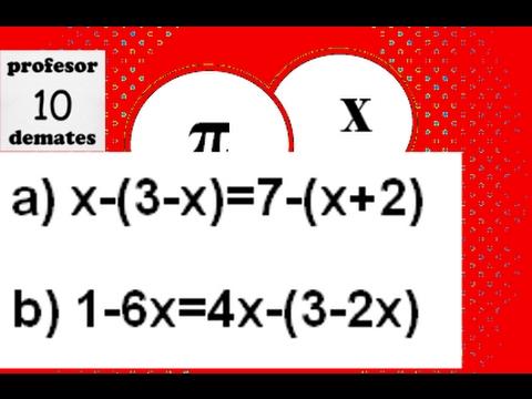 Ecuaciones De Primer Grado Con Paréntesis Ejercicios Resueltos 02a Youtube