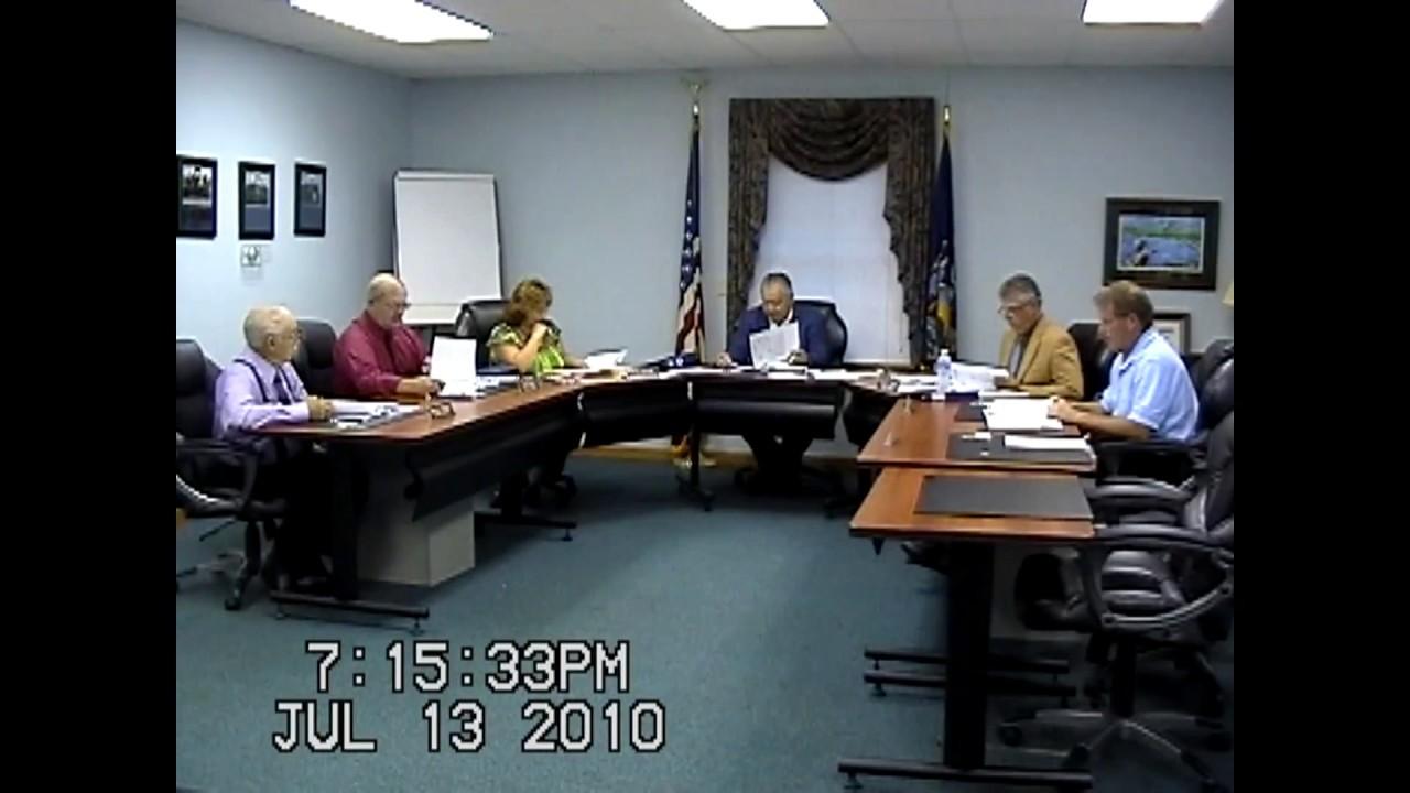 Champlain Town Board Meeting  7-13-10