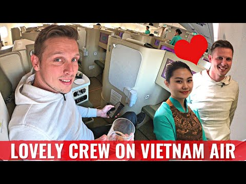 Review: VIETNAM AIRLINES A350 in Business - The World's MOST ADORABLE CREW!