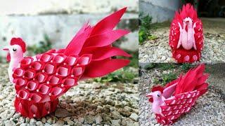 62) Ide Kreatif - Cara membuat tempat permen dari Flanel    candy ayam    candy merak    candy angsa