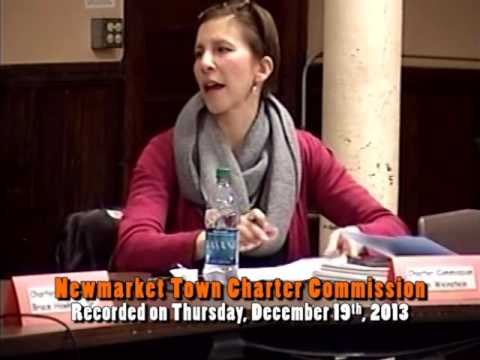 Town Charter Commission 12/19/2013 (Newmarket, New Hampshire)
