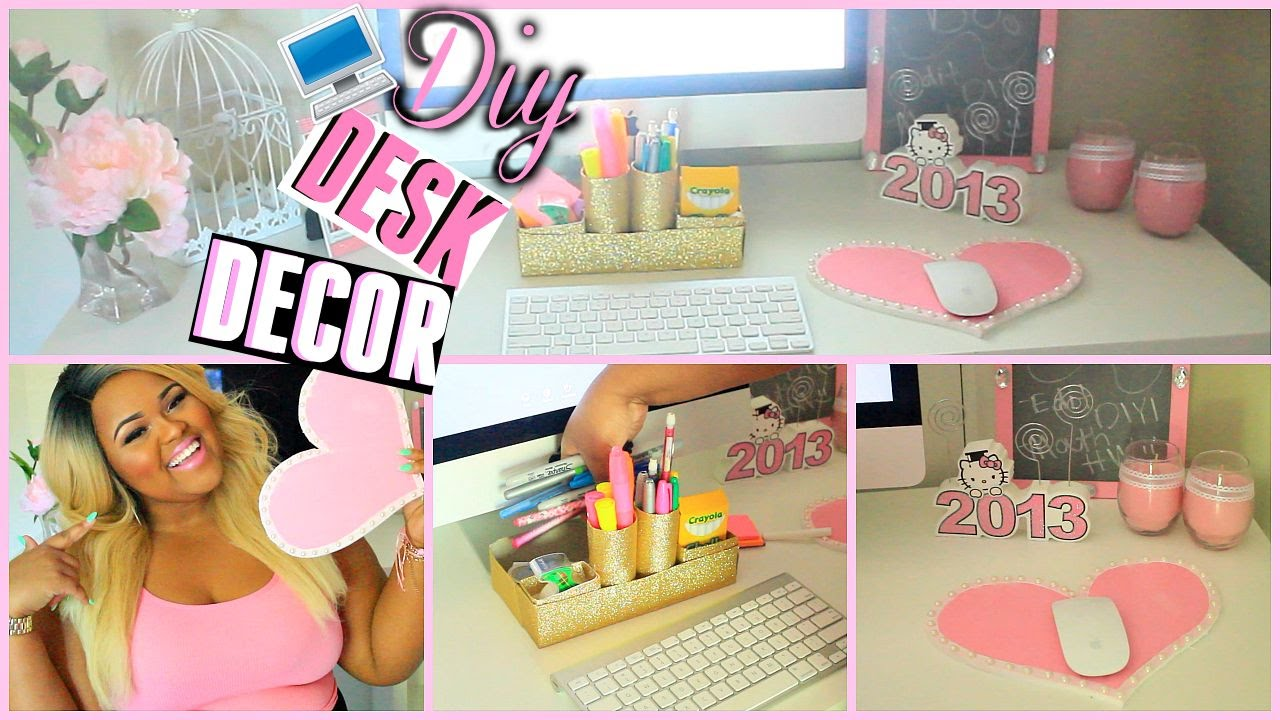 DIY Desk Decorations Organization Make Your Super Cute Girly