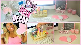 DIY Desk Decorations + Organization! Make Your Desk Super Cute & Girly BrianaLeeBeauty