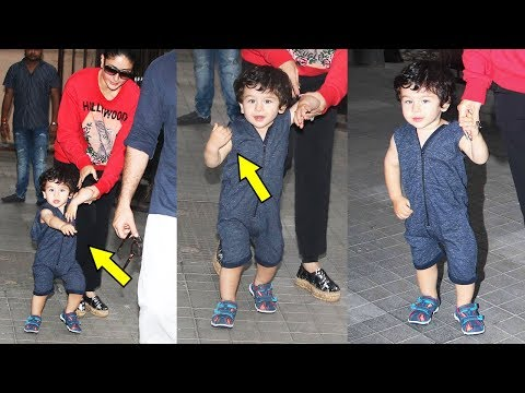 Kareena Kapoor Khan's Cute Son Taimur Ali Khan In A Fun Mood Waves Media Photographers