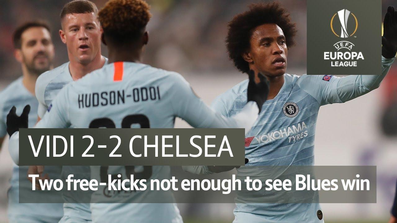 Vidi Vs Chelsea 2 2 Uefa Europa League Highlights Youtube