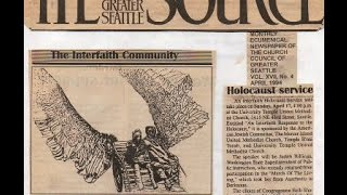 Seattle Church Council newspaper article: Holocaust educ with art program:  1994, A.K.Segan lecture