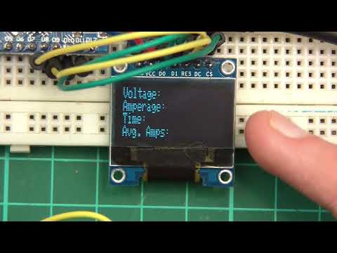 TUTORIAL: DIY 18650 Lithium Ion Cell Battery Capacity Checker Tester (Part 6 - Add screen & coding!)
