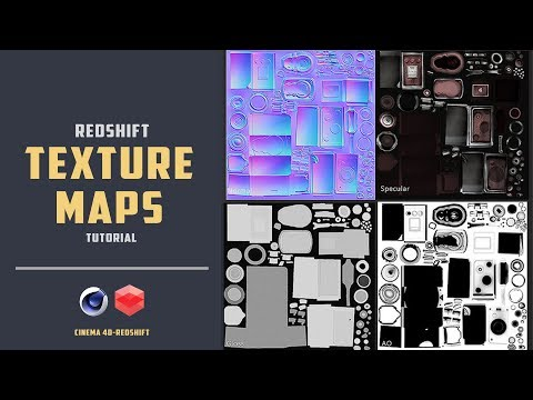 How to use texture maps [PBR] in Redshift [CINEMA 4D TUTORIAL]