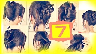Seven ★ 1-MINUTE HAIRSTYLES with JUST A PENCIL | Easy Updo Hairstyles for Long Medium Hair