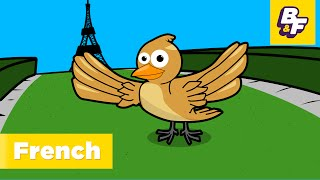 """Allouette French Nursery Rhyme"" Learn French with BASHO & FRIENDS"