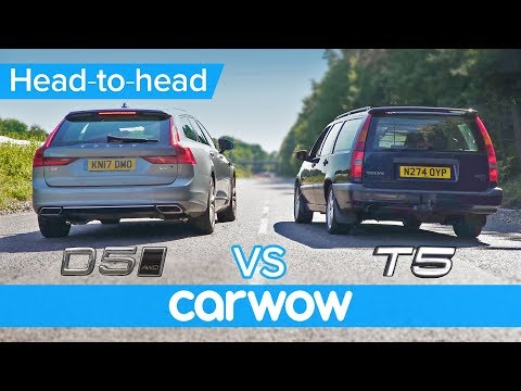 New diesel vs old petrol DRAG and ROLLING RACE: Volvo V90 D5