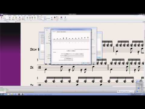 Sibelius Drum Mapping Editing