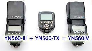 YONGNUO YN560IV Распаковка, краткий обзор и инструкция по применению(, 2015-01-11T07:00:03.000Z)